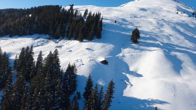 La lavina ha era destruì ina stalla en il mises da l'alp.
