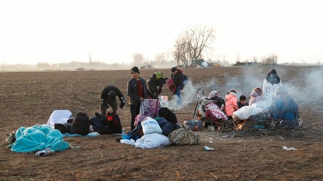 Rund 20'000 Migranten im Grenzgebiet