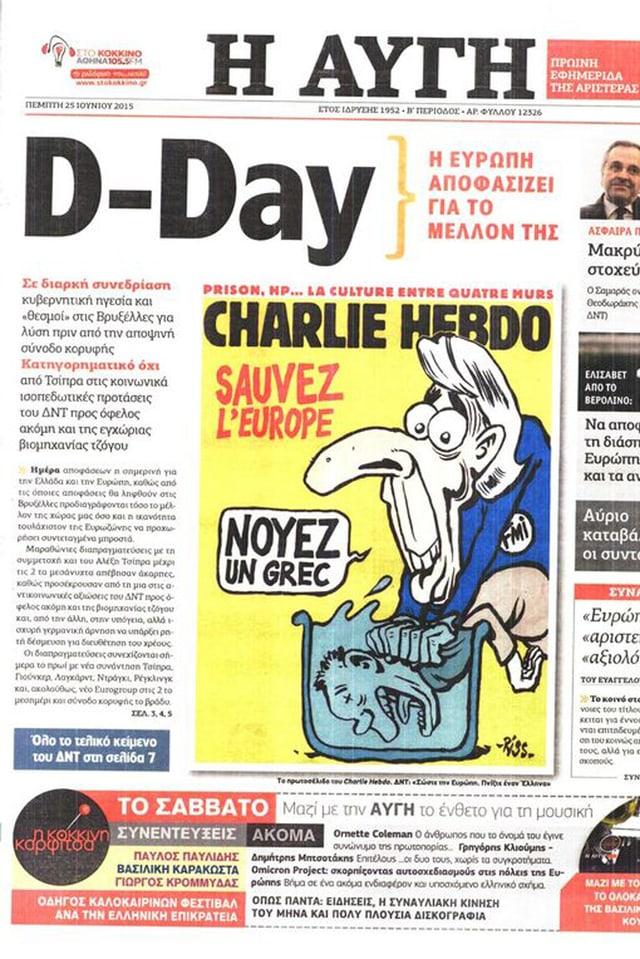 Zeitungsausschnitt mit der Comiczeichnung.