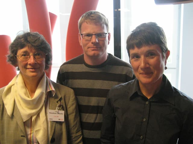 Elvira Glaser, Matthias Friedli und Helen Christen.