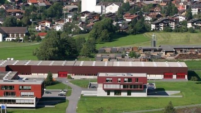vischnanca da Grüsch cun la firma Grüsch