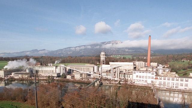 Das Areal der ehemaligen Zellulosefabrik Attisholz ist riesig.