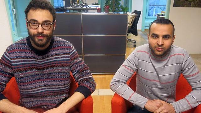 Simon Zurich von der JUSO und Khalil Thebti von der Jungen CVP machen rege von der Volksmotion Gebrauch.