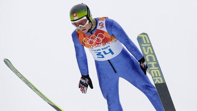 Tim Hug beim Skispringen in Sotschi.