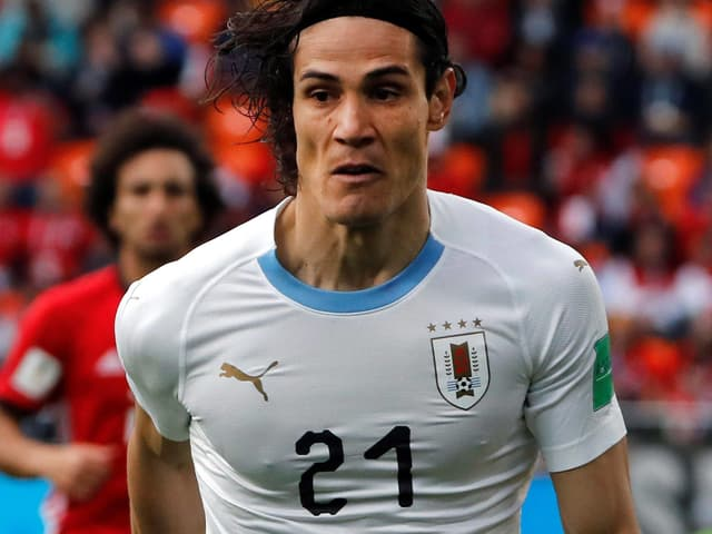 Uruguays Edinson Cavani im Spiel gegen Ägypten