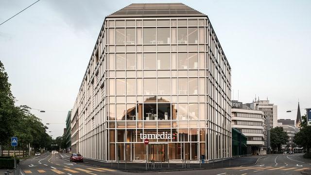 Aussenansicht des Tamedia-Hauptgebäudes.