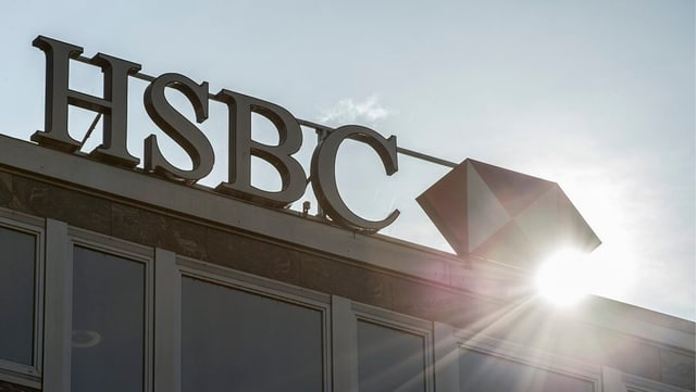 bajetg cun l'inscripziun sin il tetg HSBC