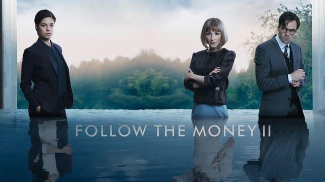 Die drei Hauptdarsteller der zweiten Staffel der dänischen Serie Follow the Money