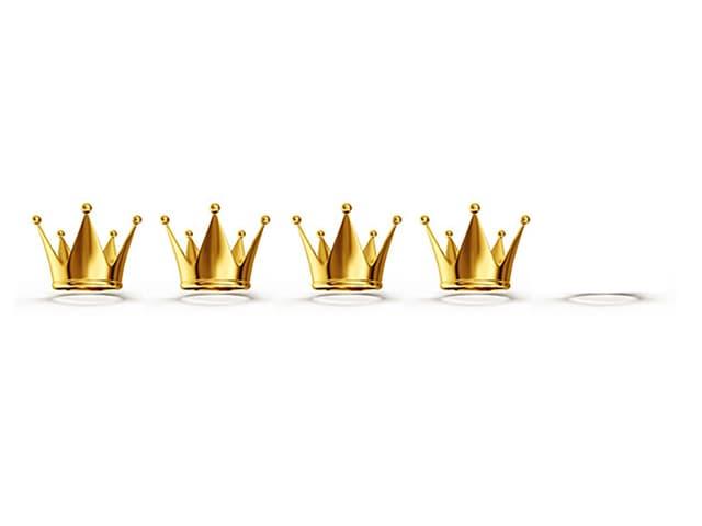 Grafik mit vier Kronen
