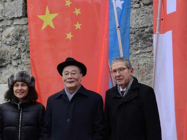 Das offizielle Foto des Besuchs