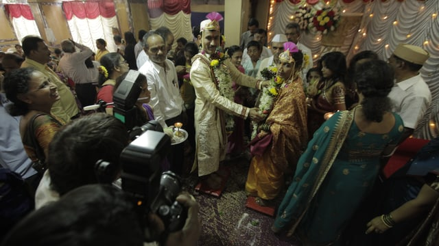 Eine indische Hochzeitsgesellschaft