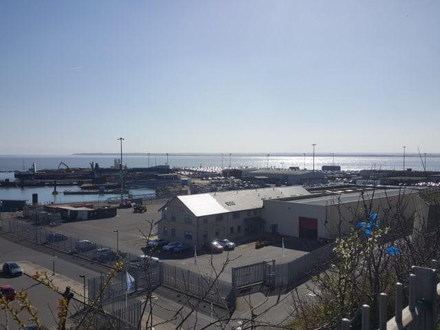 Der Ausblick auf den früheren Fährhafen von Ramsgate.