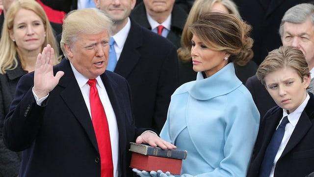 Trump bei der Vereidiung