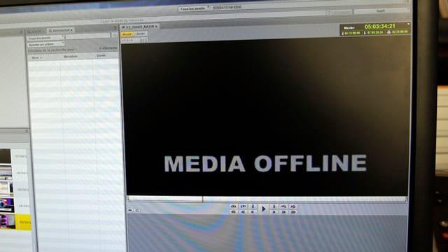 "visur cun inscripziun ""media offline"""