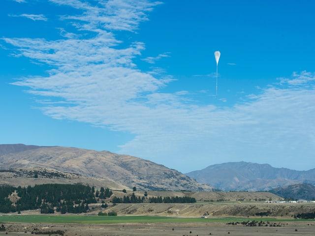 Der Ballon in der Luft