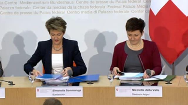 Simonetta Sommaruga und Nicoletta della Valle.