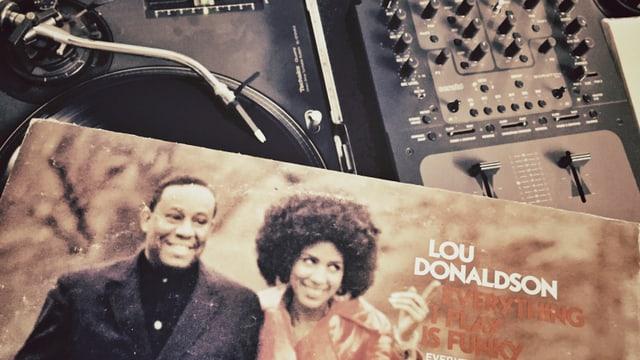 Lou Donaldson Schallplatte und Plattenspieler