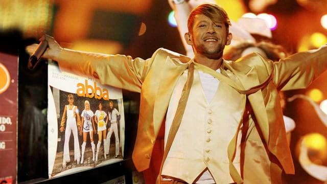 Michael von der Heide und ABBA-Albumcover