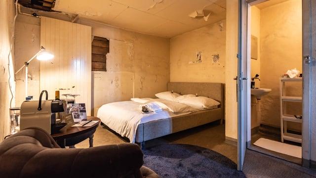 Ein Hotelzimmer in einem Turm