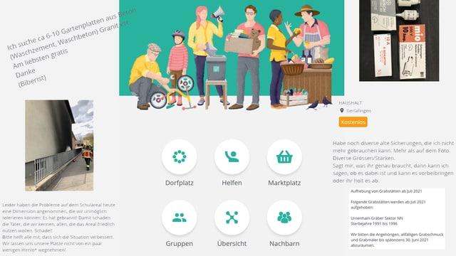 Screenshots der Crossiety-App.