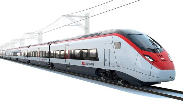 Geplanter Zug für die Nord-Südverbindung von Stadler-Rail