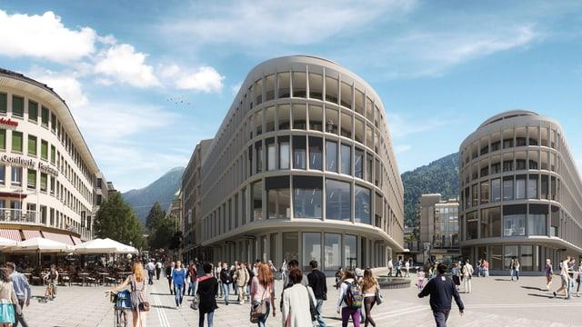 Visualisierung des umgebauten Churer Bahnhofs