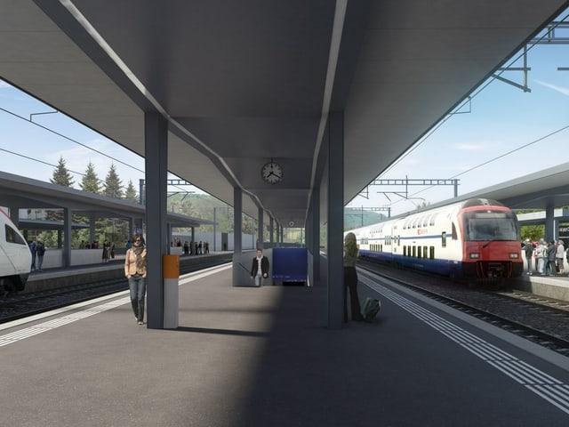 Mittelperron Bahnhof Liestal
