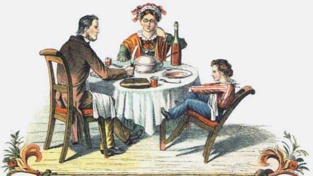 Illustration: Der Zappelhilipp aus dem «Struwwelpeter»