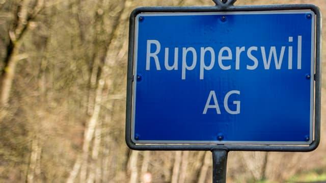 Ortstafel von Rupperswil