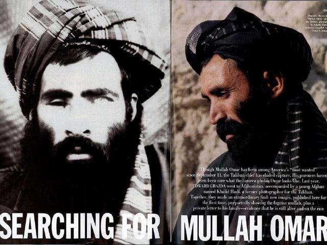 Zwei Bilder von Mullah Omar