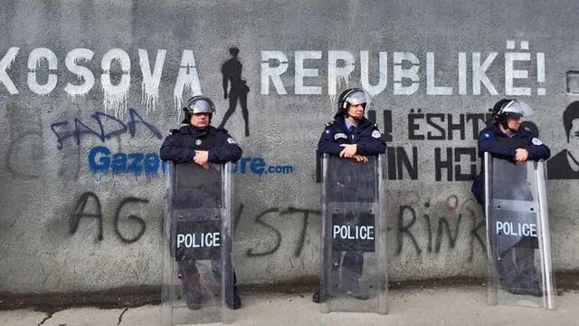 Die Polizei im Kosovo.