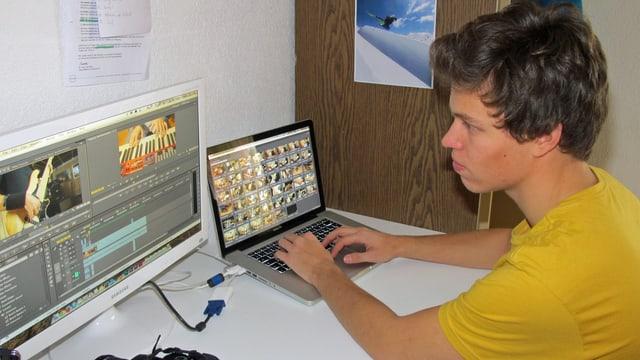 Marc Welschinger an seinem Arbeitsplatz.