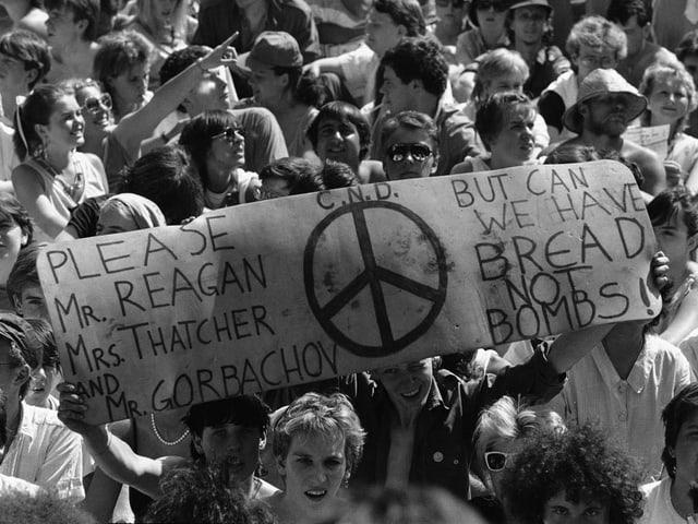 Live-Aid-Konzert London 1985.