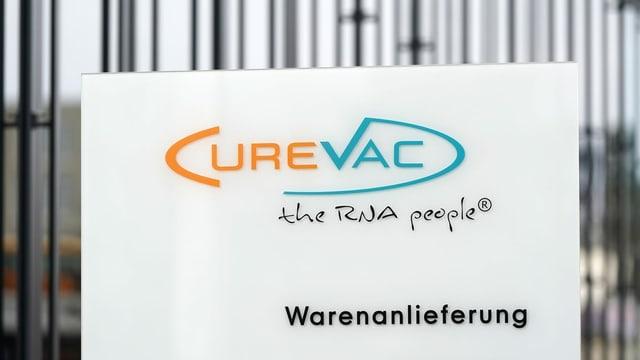 Firmenschild von Curevac.