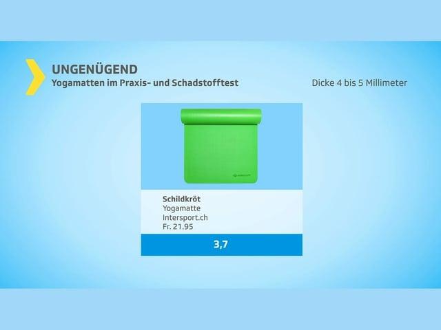 ungenügend: grüne Matte von Schildkröt