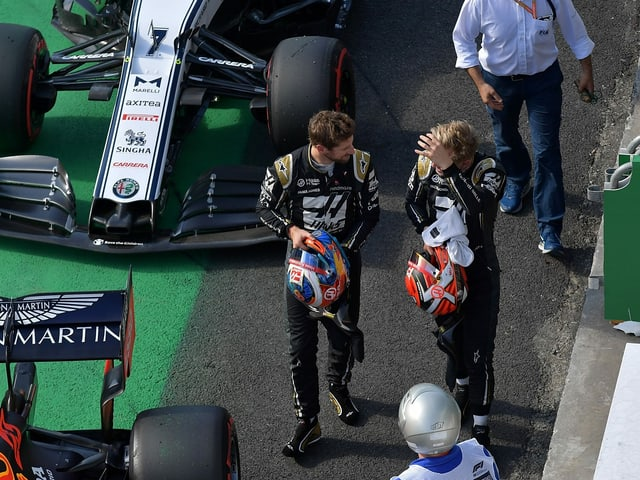 Romain Grosjean und Kevin Magnussen.