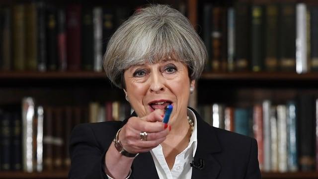 Grossbritanniens Regierungschefin Theresa May.
