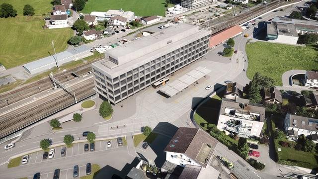 Planskizze des neuen Bahnhofs in Altdorf