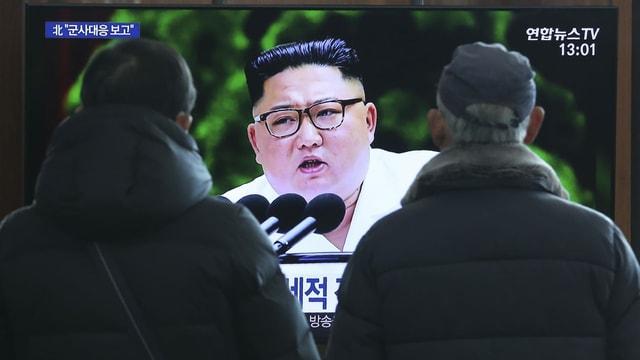 Kim bei seiner Neujahransprache