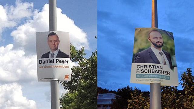 Kandelaber-Plakate von Daniel Peyer und Christian Fischbacher