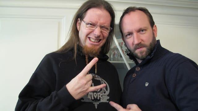 Martin Baumann und Pascal Föhrer in schwarzen Pullovern.
