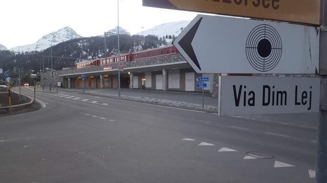 L'areal da la staziun da San Murezzan.