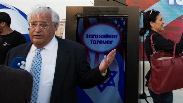 David Friedman an einer Veranstaltung mit dem Titel «Jerusalem forever» im Oktober 2016.