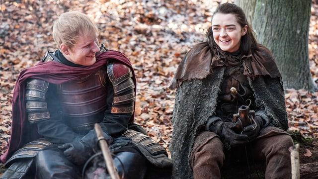 Ed Sheeran neben Arya Stark in Game of Thrones