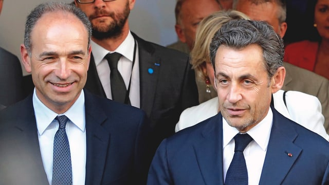 Jean-François Copé (san.) e Nicolas Sarkozy (dre.).