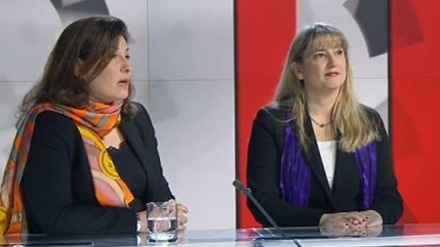 Virginie Perrey und Monica Bonfanti in der Sendung «Pardonnez-moi».