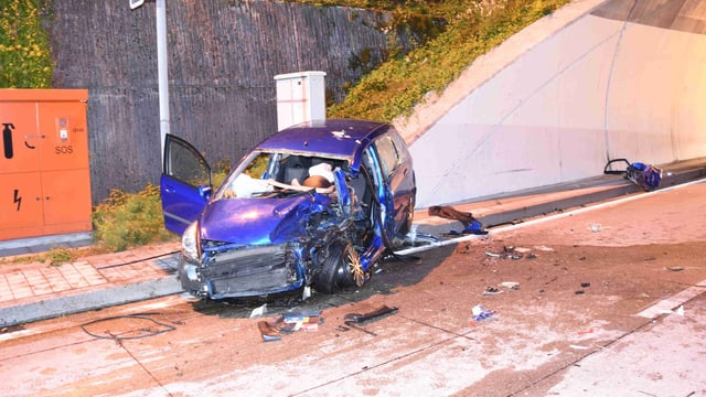 zerdrücktes Auto