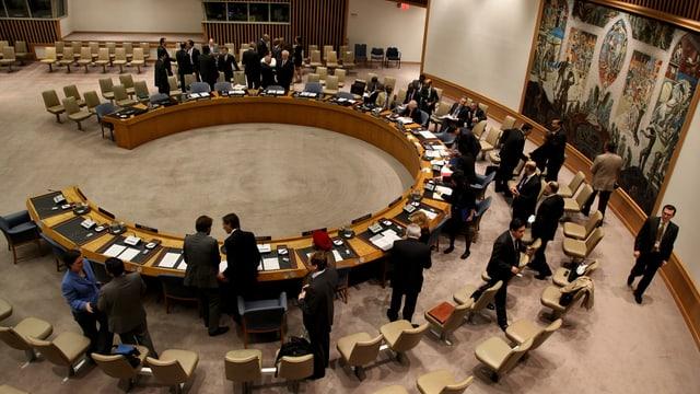 Tagungs-Saal des Weltsicherheitsrates