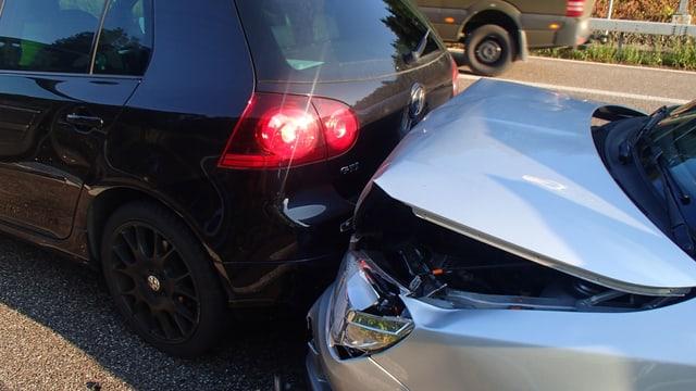 Unfallautos von Nahem
