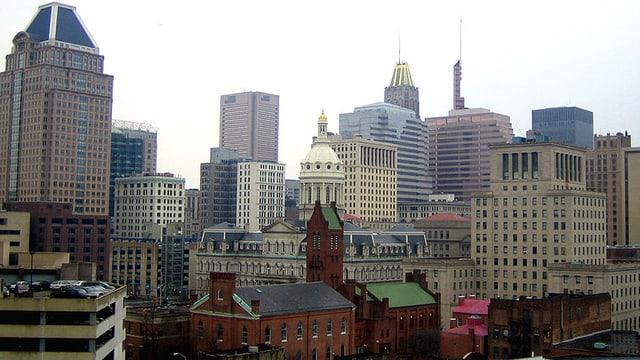 Skyline der Stadt Baltimore